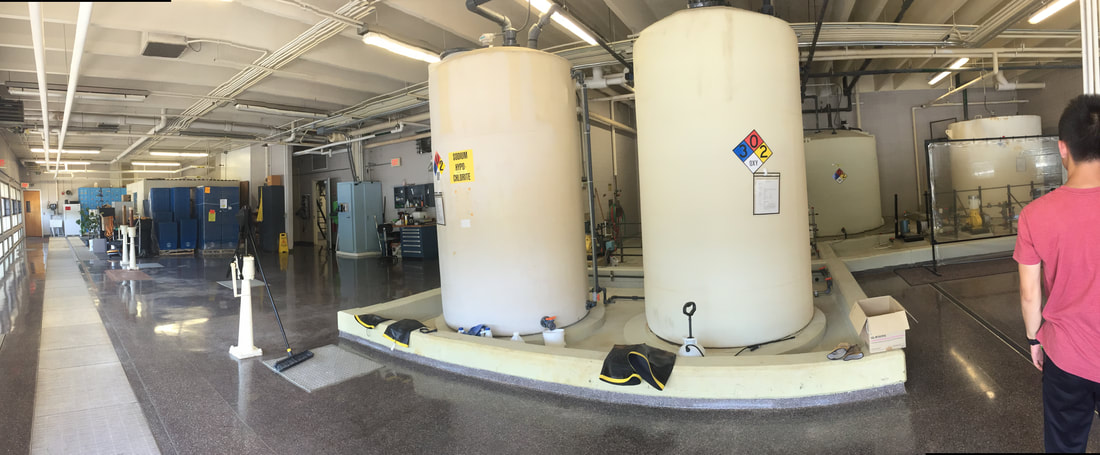The chemical storage room