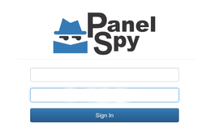 PanelSpy sign in page